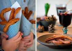 churros opskrift ➙ Opskrift fra Valdemarsro.dk Churros, I Love Food, Good Food, Yummy Food, Delicious Desserts, Dessert Recipes, Christmas Preparation, Danish Food, Sweet And Salty