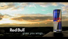 """(Ch 10) This advertisement is an example of marketers using a metaphor for a product. A metaphor involves using an explicit comparison and allow the marketer to activate meaningful images and apply them to everyday events. The energy drink Red Bull uses a slogan """"Red Bull gives you wings"""" This is a metaphor because the consumers of course will not receive wings if they drink a Red Bull, but they will receive extra energy."""