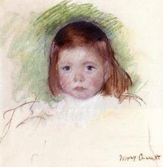 1898 Portrait of Ellen Mary Cassatt - Mary Cassatt pastel Dimensions: 36,2 x 35,88 cm Galerie: Collection privée
