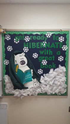 Winter bulletin board More