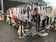 The clothing corral, backstage at the Rebecca Minkoff Spring 2013 show. #nyfw