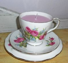 Hearts and Home - home accessories & gifts for all occasions, wedding and event hire. Teacup Candles, Vintage China, Home Accessories, Personalized Gifts, Tea Cups, Cherry, Hand Painted, Tableware, Handmade