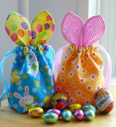 Bunny ears jelly bean drawstring bags easter gift bags easter bunny bags part 2 tutorial just jude designs quilting patchwork negle Image collections