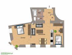 Grundriss #Wohnung Top 6 mit 3. Zimmer Floor Plans, Condominium, Floor Plan Drawing, House Floor Plans