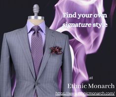 Grey One Button Suit Made to order www.ethnicmonarch.com