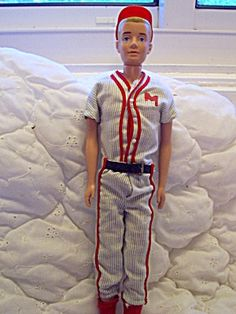 Ken Doll, 1960, CA., 1960 Baseball Uniform. Click on the image for more information.