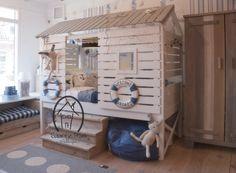Kinderbed Strandhuisje? De leukste Kinderbedden voor de kinderkamer bij Saartje Prum.