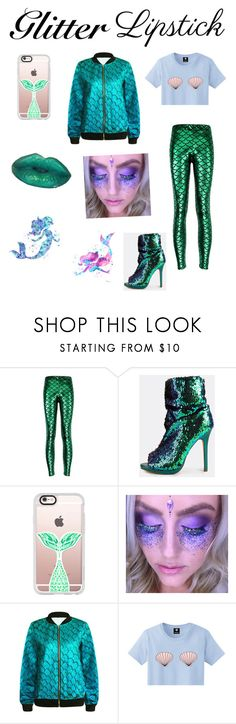 """""""Glitter Lips Mermaid Style"""" by bindisydney ❤ liked on Polyvore featuring beauty, Casetify, Disney and glitterlips"""