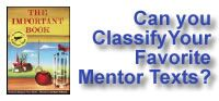 WritingFix: Mentor Text Lessons...inspired by Chapter Book Excerpts