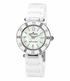 AK Anne Klein White Ceramic Watch #Dillards