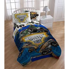 found this on overstock - for an AWESOME deal - thinking of getting it for Austin and Ethan (eventually)...as they want to have a Monster Truck room!!! SO COOL