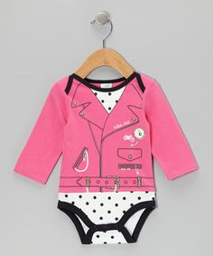 Take a look at this Hot Pink 'Biker Chic' Bodysuit by Baby Gear on #zulily today!
