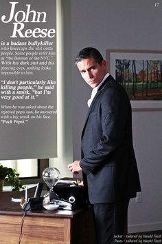 John Reese. Person of Interest