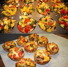 Ranteita myöjen taikinasa: Suolaiset herkkukupit Bruschetta, Baked Potato, Potatoes, Baking, Ethnic Recipes, Food, Red Peppers, Potato, Bakken