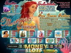 Play Mermaid Queen RTG Slots For Free or Real Cash Money