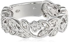 10k White Gold White Diamond Ring (.25 cttw, H-I Color, I3 Clarity), Size 7