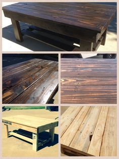 Pallet coffee table. Dark stain turned out nice