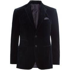 Baldessarini Cotton Velvet Blazer (950 BRL) ❤ liked on Polyvore featuring men's fashion, men's clothing, men's sportcoats, blue and men's sportcoats and blazers