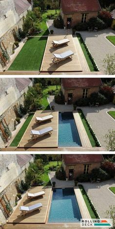 Your pool is all about relaxation. Not every pool must be a masterpiece. Your backyard pool needs to be entertainment central. If you believe an above ground pool is suitable for your wants, add these suggestions to your decor plan… Continue Reading → Small Swimming Pools, Small Pools, Swimming Pools Backyard, Swimming Pool Designs, Small Pool Ideas, Small Backyards, Small Yards With Pools, Back Yard Ideas For Small Yards, Small Inground Pool