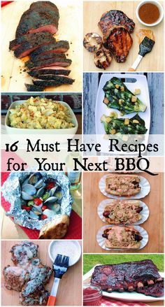 16 must have bbq recipes Collage