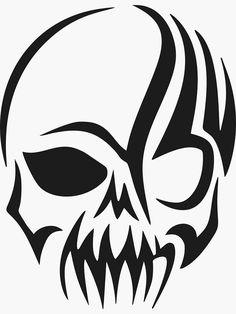 Skull Stencil, Skull Art, Stencil Templates, Stencils, Creepy Hand, Tribal Tattoo Designs, Skull Fashion, Skull Pendant, Vinyl Decals