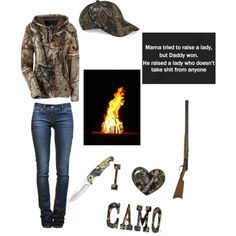 Country outfit / camo outfit / bonfire outfit