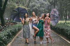 São as águas de março fechando o verão... Neste mood a Mr. Cat (@mrcatoficial) fez um ensaio com as suas embaixadoras para comemorar a entrada do outono. A chef @renatavanzetto a digital influencer @tetefeder a figurinista @marinasanvicente e a stylist @raquellionel foram clicadas por Maya Morikawa em clima descontraído tomando um banho de chuva! #mrcat #outono #autumn # #  via MARIE CLAIRE BRASIL MAGAZINE OFFICIAL INSTAGRAM - Celebrity  Fashion  Haute Couture  Advertising  Culture  Beauty…