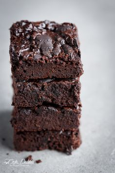 Cafe Delites | Low Carb Zucchini Brownies | http://cafedelites.com