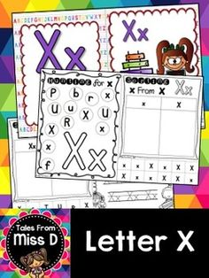 This pack contains no prep/print and go activities for the letter X.  Includes;  1) Posters x 2 2) Letter Hunt 3) Case Sorting 4) Letter Sorting 5) Handwriting 6) Bracelets