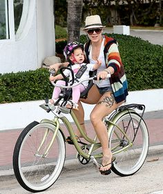 Pink took her daughter Willow out for a ride in Fort Lauderdale, Fla. Feb. 26.