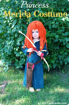 Inspired by Brave: Princess Merida Costume Tutorial by Sew Can Do-- Modify so that the sleeves are more like the costume and then do peasant slip underneath. (hand sewn by Tiff) Disney Costumes For Girls, Disney Princess Costumes, Diy Halloween Costumes For Kids, Cute Costumes, Costume Ideas, Movie Costumes, Disney Princesses, Halloween Crafts, Brave Costume