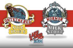 Lake Monster Brewing - Beer Label Deisgn on Behance