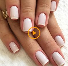 natural wedding nail art shows more beauty to the bride – Page 9 – Kornelia Nowak wedding nails Natural Wedding Nails, Natural Nails, Chic Nails, Stylish Nails, Nagel Blog, French Tip Nails, French Manicures, White French Nails, Gel French Manicure