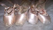 2 PAIR Beautiful Dead Pink Pointe shoes ballet ballerina decorating art craft