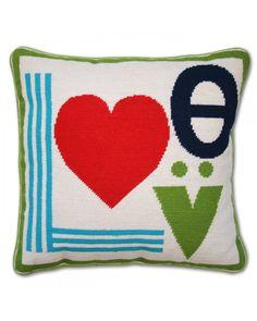 Jonathan Adler Needlepoint Love Pillow