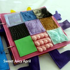 Texture Grid Quiet Book Page by SweetJuicyApril on Etsy