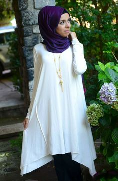 Summerly Uneven Tunic - White