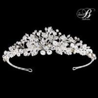 CAROLINE BRIDAL CRYSTAL TIARA - SASSB - WEDDING TIARA