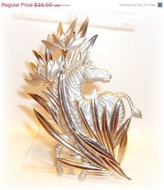 Zebra pin JJ pin brooch by dollherup on Etsy, $29.75