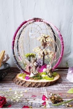 Frühling Märchengarten Fairy Traumfänger 3d Traumfänger | Etsy Spring Fairy, Spring Tree, Diy Arts And Crafts, Crafts For Kids, Diy Crafts, Faux Flowers, Dried Flowers, Dream Catcher Craft, Spring Home Decor