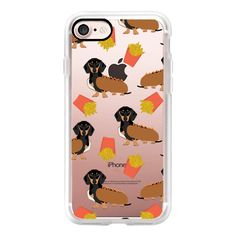 Dachshund cute hot dog and french fries junk food moxie owners must... ($40) ❤ liked on Polyvore featuring iphone case