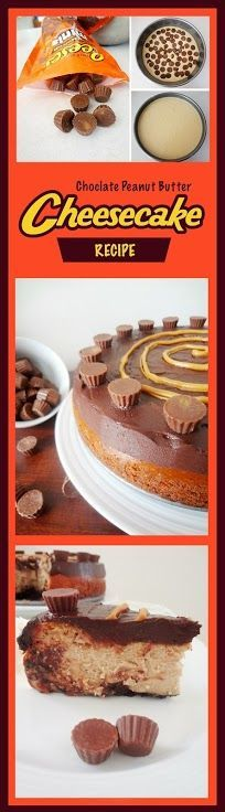 Reese's Peanut Butter Cup Cheesecake #chocolate #cake #recipe