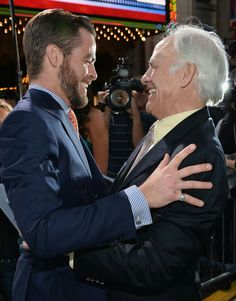 Chris with his dad