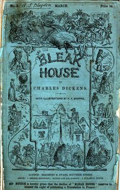 Front Cover of No. 1 of Bleak House by Charles Dickens, March 1852.