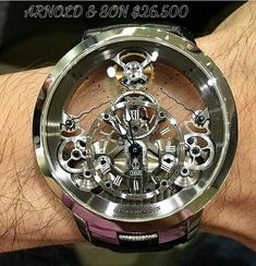 Armani Watches For Men, Luxury Watches For Men, Fine Watches, Cool Watches, Clock Art, Clocks, Skeleton Watches, Expensive Watches, Beautiful Watches