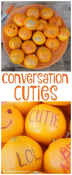 It's okay to let kids eat sweets, especially when snack time includes naturally sweet Cuties fruit. How to make Conversation Cuties fruit as Valentine's Day treats for kids. Conversation Cuties are Fun and Healthy Valentine's Day Treats Kids Love to Eat! Kinder Valentines, Valentines Day Food, Valentine Treats, Valentine Party, Valentines Healthy Snacks, Healthy Birthday Treats, Valentine Cupcakes, Heart Cupcakes, Pink Cupcakes