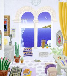 Aegean Studio with Arches | Thomas McKnight Gallery, the Official Website