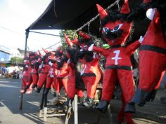 "Piñatas conmemorativas para la quema del Diablo en la ciudad de Guatemala / December 7th is the ""burning of the devil"" day."