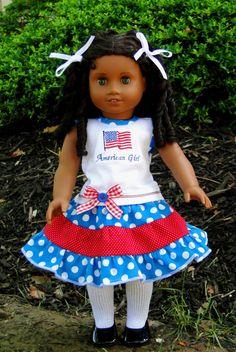 American Girl Patriotic Top and Skirt. $23.99, via Etsy.