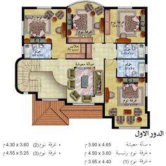 مخطط الدور الاول My House Plans House Layouts Coastal House Plans